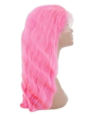 Bubble Gum 100% Virgin Human Hair Body Wave 13x4 Transparent Lace Front Wig