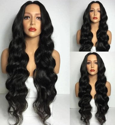 100% Virgin Human Hair Body Wave 13x4 Transparent Lace Front Wig