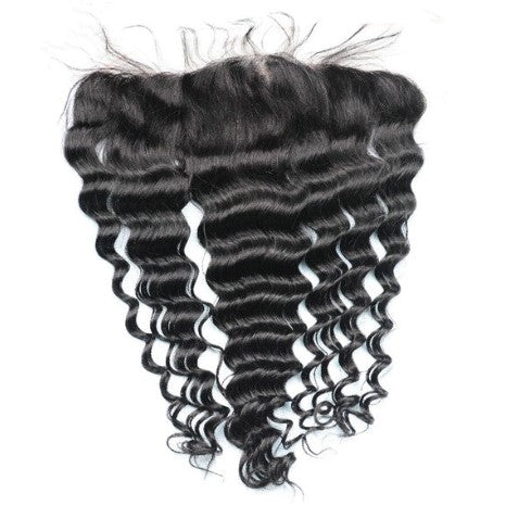 100% Human Hair Deep Wave Frontal or Closure
