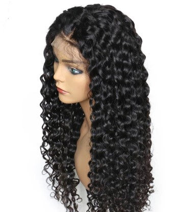 100% Virgin Human Hair Water Wave 13x6 Transparent Lace Front Wig