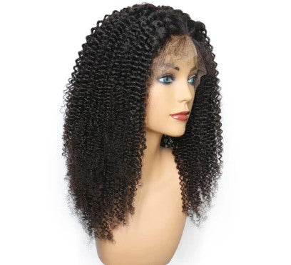 100% Virgin Human Hair Kinky Curly 13x4 Transparent Lace Front Wig