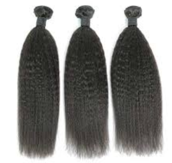 100% Human Hair 10A Kinky Straight 3 Bundle Deal