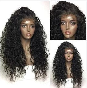 100% Virgin Human Hair Exotic Wave 13x4 Transparent Lace Front Wig