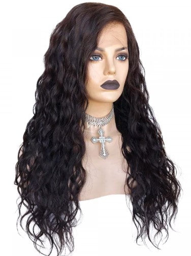 100% Virgin Human Hair Natural Wave 13x4 Transparent Lace Front Wig