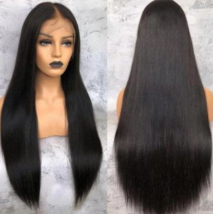 100% Virgin Human Hair Straight Full Transparent Lace Wig