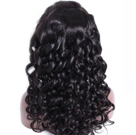 100% Virgin Human Hair Tight Loose Wave 13x4 Transparent Lace Front Wig