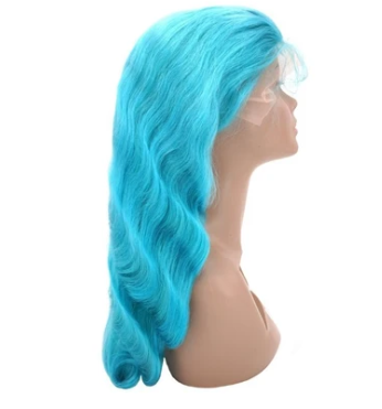Aqua 100% Virgin Human Hair Body Wave 13x4 Transparent Lace Front Wig