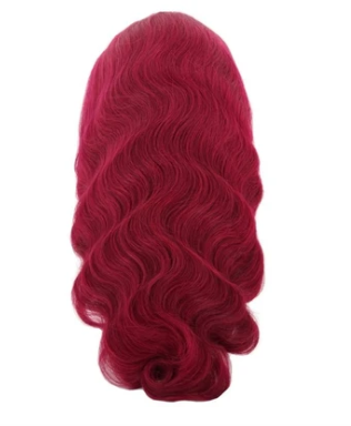 Burgundy Dream 100% Virgin Human Hair Body Wave 13x4 Transparent Lace Front Wig