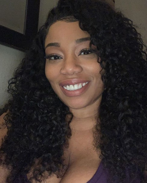 100% Virgin Human Hair Deep Curly 13x4 Transparent Lace Front Wig