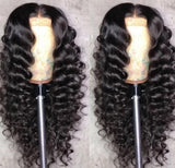 100% Virgin Human Hair Loose Wave 13x4 Transparent Lace Front Wig