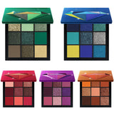 9 Highly Pigmented Color Eye Shadow Palette