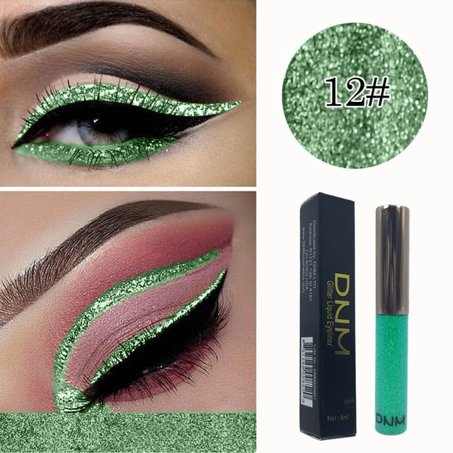 New 16 Colors Diamond Glitter Liquid Eyeliner Durable Waterproof Makeup Shimmer And Shine Eye Pencil TSLM1
