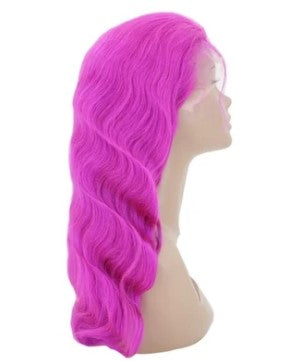 Purple Fizz 100% Virgin Human Hair Body Wave 13x4 Transparent Lace Front Wig