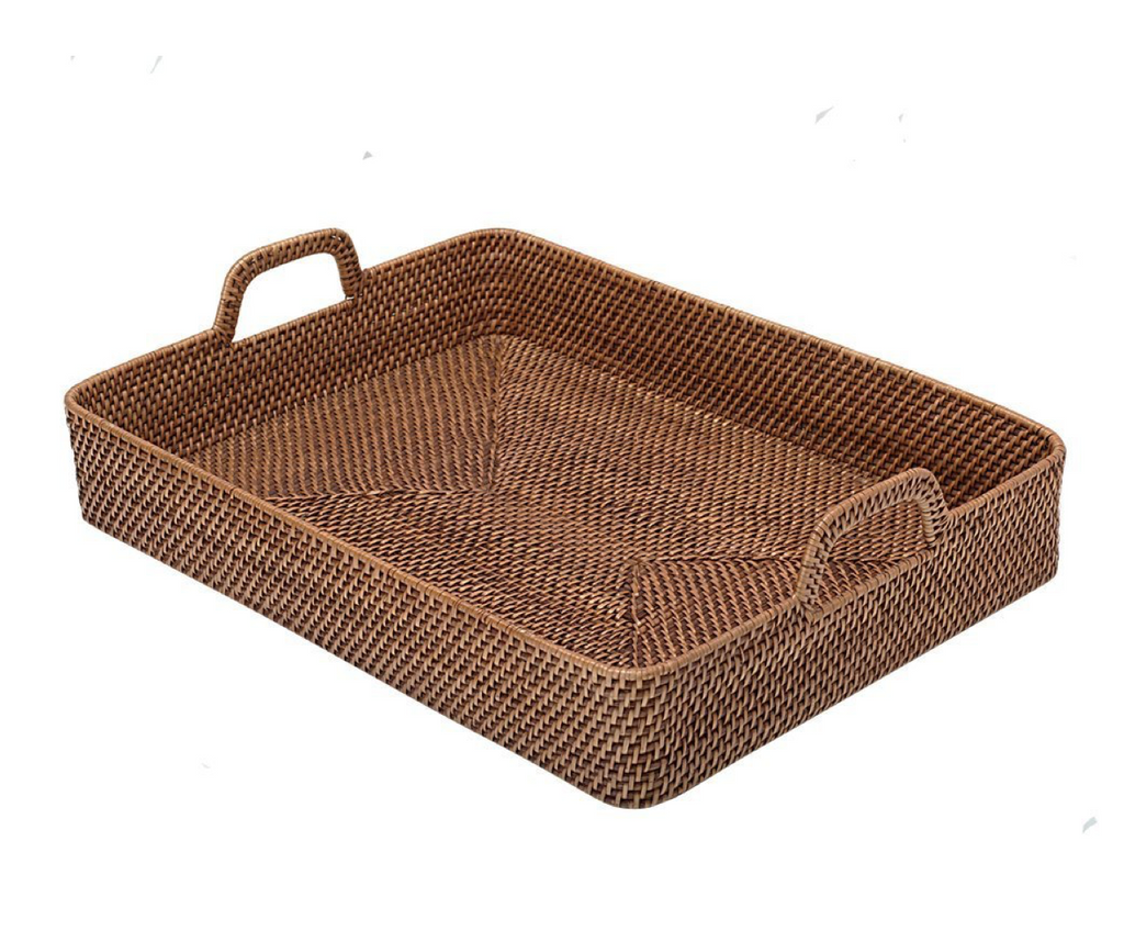 Brown Rattan Tray