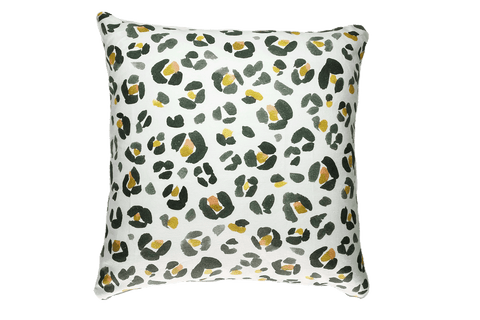 Stand For Something - Leopard Print Pillow Cover, White