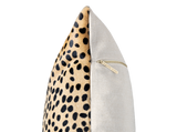 Brave, Not Perfect - Cheetah Cowhide Pillow Cover, BigCat - FINAL FEW