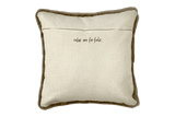 Rules Are For Fools - Shearling Pillow Cover, Mocha