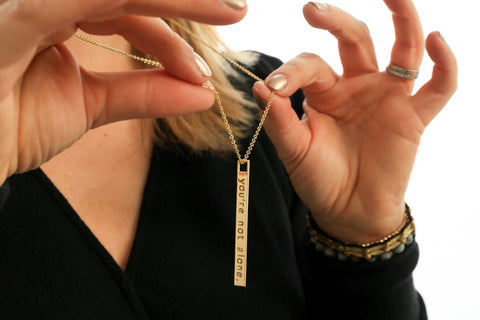 You're Not Alone - Zipper Pull Necklace