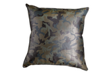 Original Gangsta - Camo Leather Pillow Cover, Green