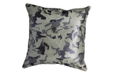 Original Gangsta - Camo Leather Pillow Cover, Grey
