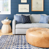 It's Hip To Be Square - Plaid Pillow Cover, Indigo