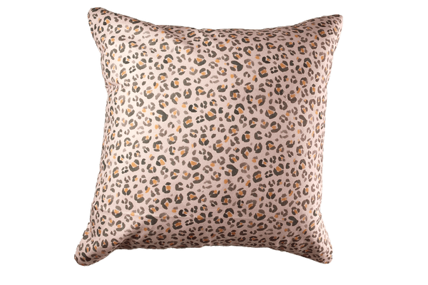 Stand For Something - Leopard Print Pillow Cover, Pink - FINAL FEW