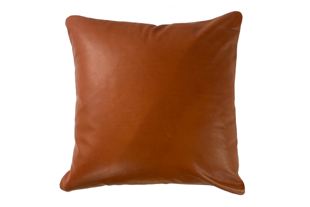 Start With Yes - Leather Pillow Cover, Rust - FINAL FEW