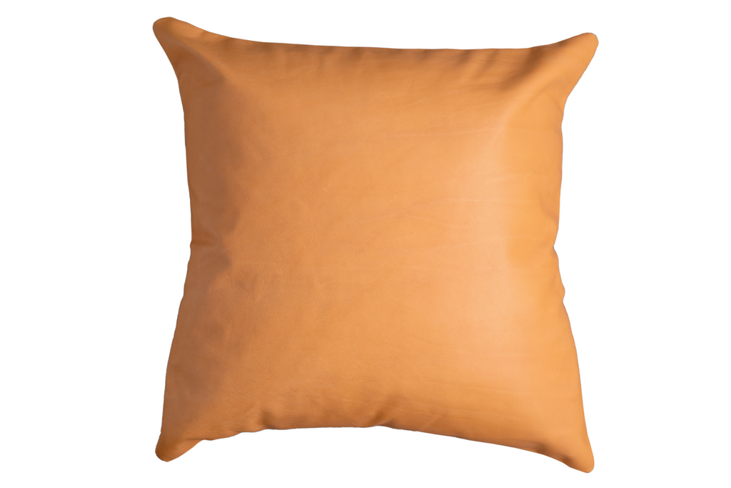 Stay Golden - Leather Pillow Cover, Camel - FINAL FEW