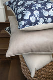 Wild And Free - Floral Pillow Cover, Blue - FINAL FEW