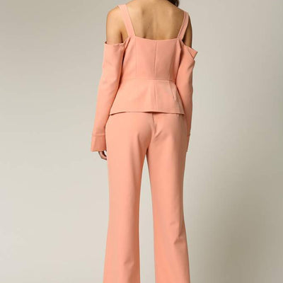 Skyla Contemporary Double Breasted Ladies Pant Suit - LoveAdora