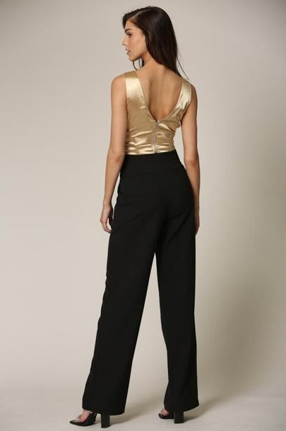 Christie Satin Top Featuring a Cowl Neckline