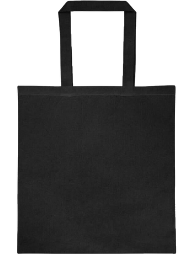 Stylish Black 100% Cotton 14.5 x 15.5 Tote Bag - Mercating | Business solutions to achieve more with less