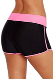 Contrast Pink Trim Swim Board Shorts