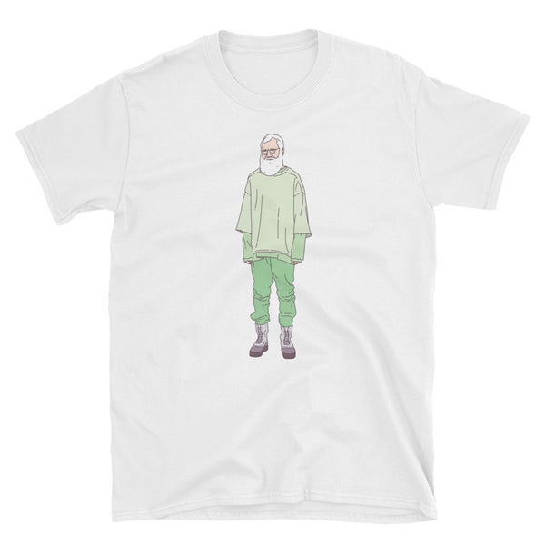 Letterman in Yeezy T-Shirt