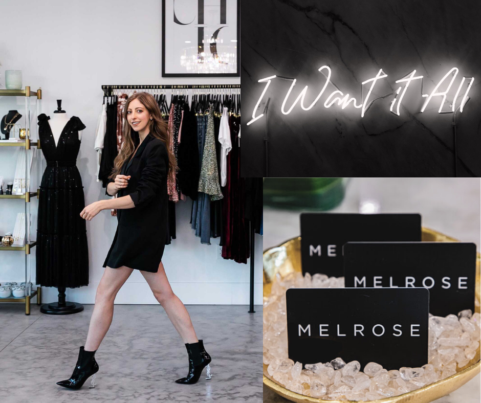 Melrose is the realization of a dream. After five years as a fashion stylist in New York City, I realized I had a passion to  bring a new element of style to my home town. Melrose is an inclusive space where all are welcomed with a strategic focus on empowering women  through fashion. I am excited to feature brands that are well known  and loved along with new and innovative designers.   Now that my dream is a reality, I look forward to creating an abundance of outfits that will help you look and feel your best! XO, Kristine