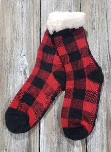 Buffalo Print Holiday Sock