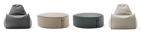 bean bag chairs and ottomans