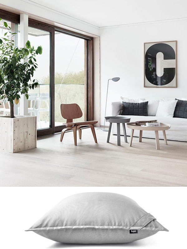 giant floor cushion and indoor furniture