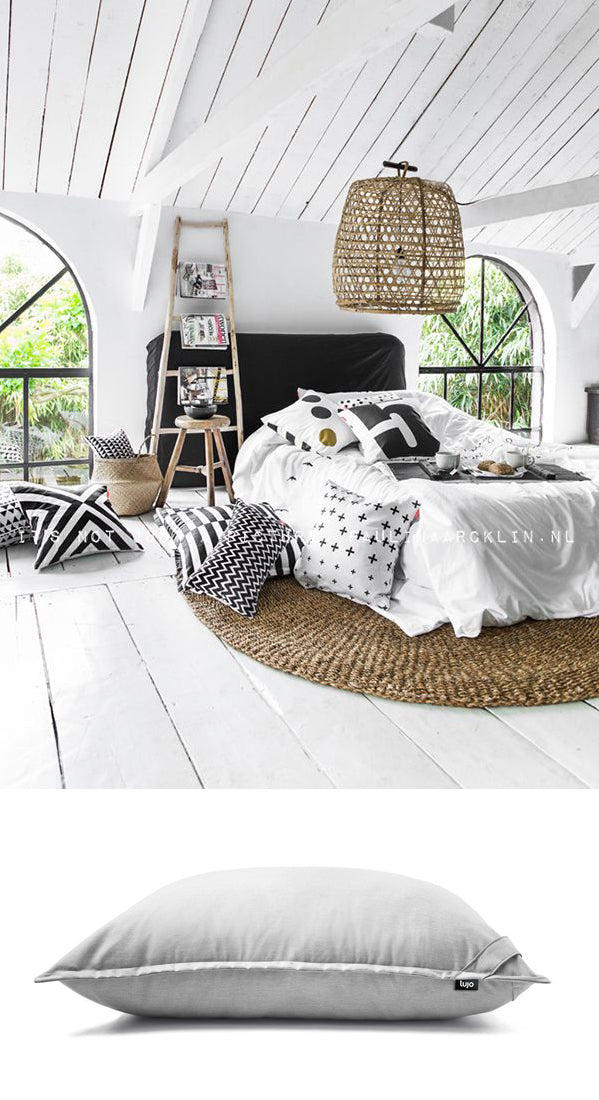 giant floor cushion and bedroom