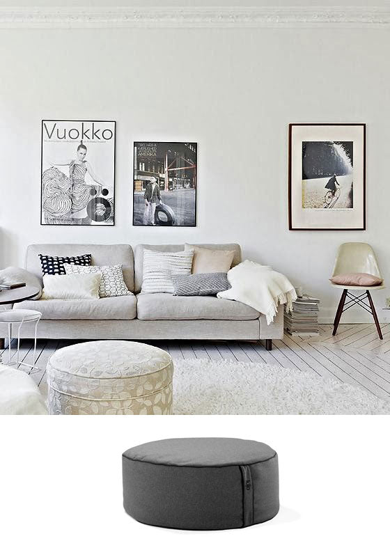 beanbag ottoman and living room furniture
