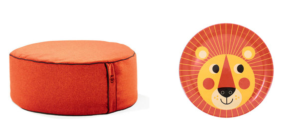 indoor-bean-bag-ottoman-and-kids-plate