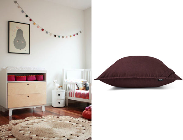 kids room and giant cushion