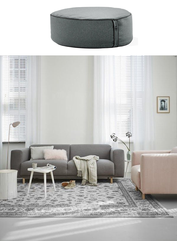 living room furniture and ottoman