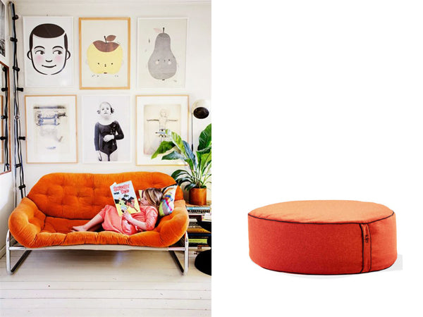 lujo beanbag ottoman and living room