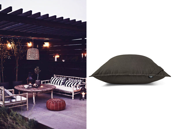 outdoor furniture and giant cushion