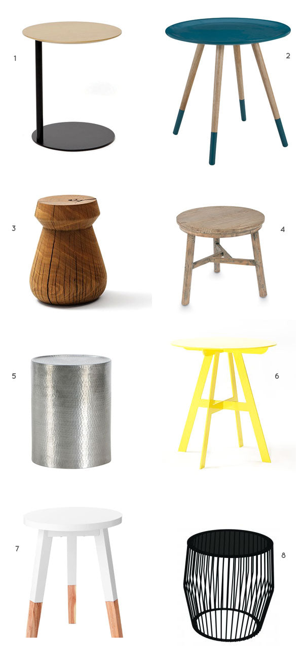 side tables to use with hammocks and bean bags