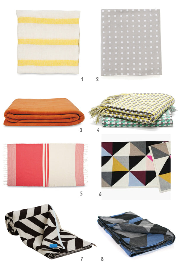 throws and blankets to use with bean bags