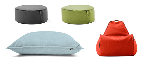 beanbag chair and beanbag ottomans