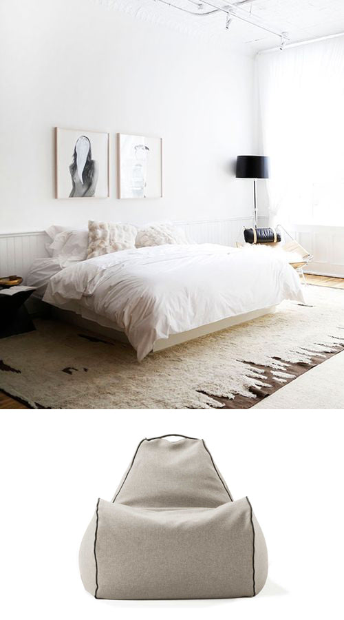 designer bedroom furniture and beanbag chair