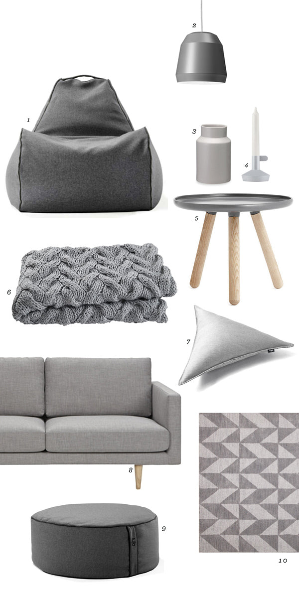grey bean bag chair ottoman and homeware